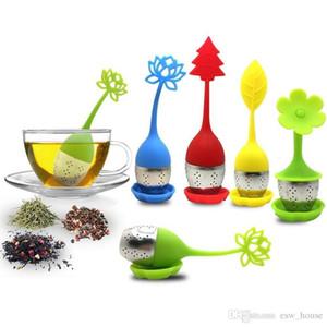 Silikon Çay Infuser Çiçek Şekli Çay Süzgeç Food Grade Çay Torba Filtre Gevşek Yaprak Yeşil Çay Filtre Home Kitchen Bar Drinkware Aracı