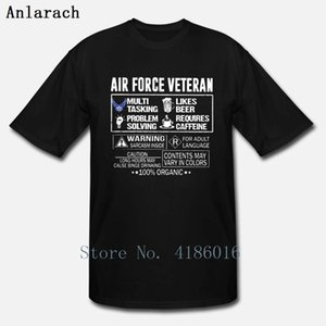 Air Force Veteran 100 Organic T Shirt Fit Normal Summer Style Building S-5XL Pictures Design Cotton Shirt