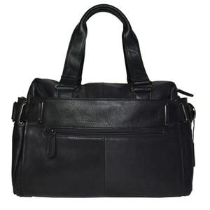 Мужские коровьей Мода кожаный портфель 14 дюймовый ноутбук Messenger плеча мешок Урожай Бизнес Классический путешествия Tote