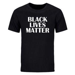 Expresión camisetas negras Vidas Materia BLM para hombre de la camiseta de algodón O del cuello para George Floyd no puedo respirar apagón encabeza camiseta