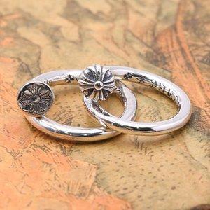 Marka yeni 925 ayar gümüş takı vintage antik gümüş Amerikan el yapımı tasarımcı erkekler kadınlar için ayarlanabilir yüzükler güzel hediye