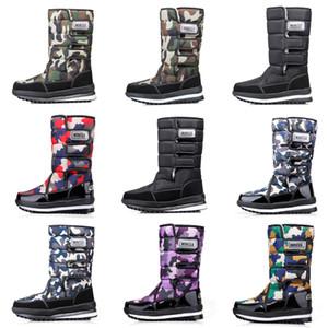 Luxe femmes concepteur bottes hommes Camo demi-bottes d'hiver de neige botte mens bottines imperméables à l'eau plate-forme 36-46 drop shipping