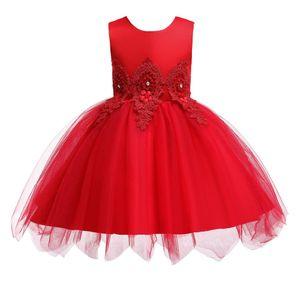Bebé pomdress aniversário vestido de saia de verão para crianças europeu e americano de malha de fios princesa irregular saia E200230