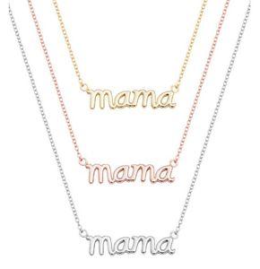 Mama pequena mom mommy Letters Colar Stamped palavra do alfabeto inicial Amor Mãe Colares Presentes de Ação de Graças mãe