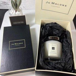 Vendita CALDA Jo Malone London Natale Pazzo candela fragranza 200g di alta qualità Candele Incenso in contenitore di regalo di trasporto