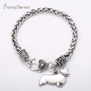 Вельш корги браслеты шарма для женщин кулон собака браслеты дружбы подарок Trendsmax Boys Мужская браслет-цепочка Оптовые ювелирные изделия