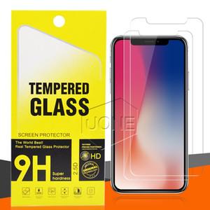 Vidro temperado para 2020 novo iPhone 11 PRO Tela MAX X XS XR Protector para LG Stylo 5 V40 Samsung A20E A50 Film Protector com packag varejo