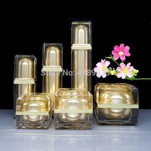 6pcs 8 10 15 30 50g Empty Face Cream Jar 20 40 60ml Sprayer atomizer Lotion Press Pump Bottles Cosmetic Container Suit