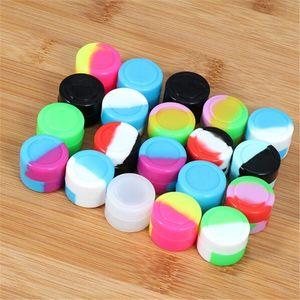 5ML кремний Контейнер Воск Jar Коробка для хранения многоцветного Concentrate Box Food Grade Silicon Испаритель Tool Масла для сухой травы