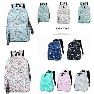 11 Stil Unicorn flamingo baskılı Sırt Çantası Çanta Schoolbag Kadın Gençler Kızlar için Sırt Çantası açık seyahat Öğrenci Saklama Çantası FFA2636