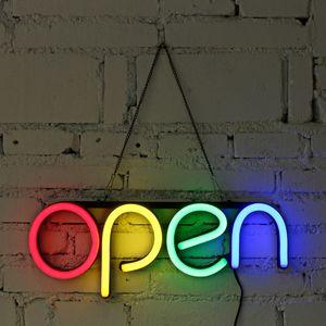 16 '' OPEN Neonzeichen LED-Lichtschlauch Handgemachte Visuelle Kunst Bar Club KTV Wanddekoration Kommerzielle Licht Bunte Neon Glühbirnen