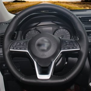 Car Steering Wheel Cover Hand-stitc?h on Wrap Cover Car interior decoration For Nissan X-Trail 2017-2019 Qashqai 2018