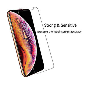 Für iphone 11 Pro Max 6 7 8 Ausgeglichenes Glas Screen Protector 2.5D 9H mit Paket für Samsung A10E A20 J2