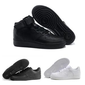 Nike Air Force 1 AF1 Leather 2018 Новый Классический 1 Белый Черный Низкий Высокий Cut Мужчины Женщины Скейтбординг Обувь Один Размер Обуви 36-46