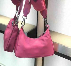 2020 neue drei-in-one diagonale Handtasche / NYLO HOBO Killertasche der Qualitätsdamen Umhängetasche klassische dreiteilige Segeltuchhandtasche Nylontasche