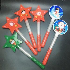 Круглая пятиконечная звезда светящийся жезл Led Light Up Игрушка С Рождеством Христовым Светящиеся палочки Снеговик Горячий Продавать С Различным Образцом 3 15ky J1