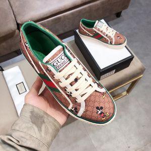 2020 cuir Flats hommes chaussures femmes Designers tigre classique python Chaussures Casual sneakers abeille fleur brodée Cock amour