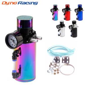 Alumínio Engine Oil Captura Reservatório respiro do tanque / Can + medidor de pressão de vácuo / Oil Captura Tanque / Oil catch pode TT100770