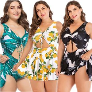 V101 BLUE GREEN Plus Size 5XL Women Big Summer Swimming Dress Vintage Tankini Swimsuit Push Up Retro Swimwear Striped Bathing High Quality