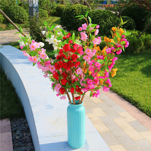 wholesale home wedding arch 4 forks decorative flower plants Chinese silkworm begonia silk flower decorative simulation wreaths