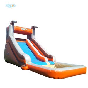 Grado comercial inflable de diapositivas tobogán de la piscina de agua Puente de Verano Slip N Slide