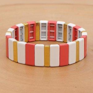 Shinus Bohemian Bracelet For Women Enamel Tile Bracelets Pulseras Mujer Moda 2020 Finging Jewelry Accesorios Handmade bangtan