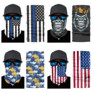 Magic Skull Scarf Bike Motorcycle Helmet Face Mask Half Mask Cs Ski Headwear Neck Cycling Pirate Headband Hat Cap Halloween Mas #800#697