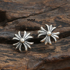 Nouveau 925 sterling silver vintage American European Luxury bijoux faits à la main designer antique croix en argent croix boucles d'oreille pour femmes hommes