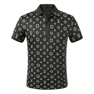 FF novo designer Polo Homens Luxo Polo Casual Men Polo T Shirt Cobra Bee Carta Imprimir Bordados Moda High Street Mens Polo