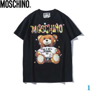 Designer shirt Mens di modo di marca 2020 T-Top traspirante sciolto Pantaloncini maniche modello orso Stampa Lettera di lusso delle parti superiori delle magliette 1