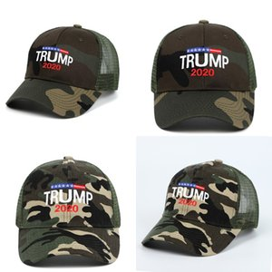 DHL shipping Donald Trump Camouflage Hat 2020 Keep America Great Caps Adjustable Baseball Hats 3D Embroidery President Cap Snapback L238FA
