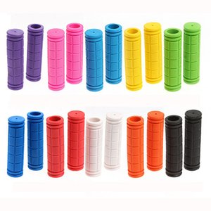 1 Pair Rubber Bike Handlebar Grips Cover Mountain Bicycle Handles Anti-skid Bicycles Bar Grips Fixed Gear Bicycle Parts