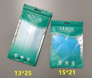13*25 21*15cm Bags for Disposable Face Mask 3-Ply Protective Non-woven Disposable Elastic Mouth Soft Breathable Hygiene Safety Face Masks