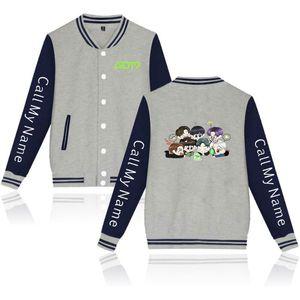 Kpop GOT7 мультфильм Custom напечатаны Tracksuit Женщины / Мужчины куртки с длинным рукавом Baseball Jacket Harajuku Повседневная одежда Уличная