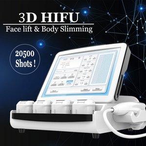 Non chirurgici Face Lift 3D Hifu Anti rughe Finelines macchina HIFU Terapia SMAS sollevamento della pelle Trattamento Corpo viso