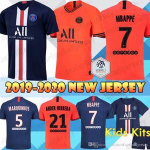 19 20 PSG Jerseys MBAPPE MARQUINHOS GANA jersey CAVANI VERRATTI Paris jersey top thailand home away Men Kids Kits Football shirt 2020