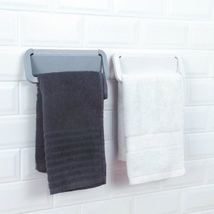 1PCS Simple Punch-free Bathroom Towel Hook Household Bar Wall Suction Cup Slippers Kitchen Storage Rack Pasta Rack Towel Hanger