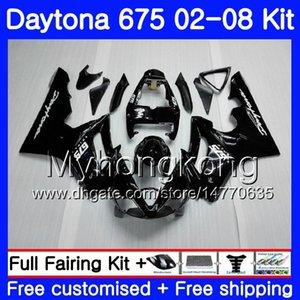 Body For Triumph Daytona 675 02 03 04 05 06 07 08 Daytona675 322HM.0 Daytona 675 2002 2003 2004 2005 2006 2007 2007 Carenado TODO Negro brillante
