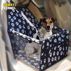 Fournitures Sacs Dog Carriers CAWAYI KENNELWaterproof Impression Respirant Renforcement Pet voiture Protection Siège avant Siège Cat Dog Fol ...