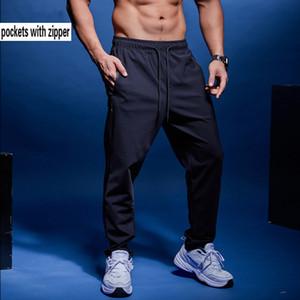 BINTUOSHI hombres corriendo pantalones pantalones de entrenamiento de fútbol con fútbol bolsillo con cremallera para trotar gimnasia de entrenamiento Sportwear