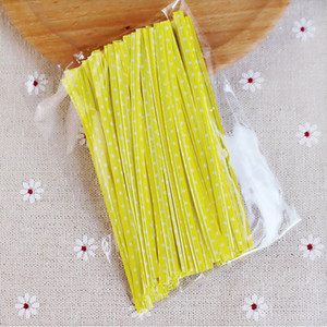 Wrapping Supplies Gift Bags Sealing Cello Bags 100 Pcs 6 Colors Cake Festive Party Supplies Candy Bag Packaging Ligation Other Event & Party