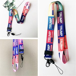 Trump Lanyard 2020 bandeira Eleitoral dos Porta-Chaves dos Estados Unidos Badge Pendant Party Gift Moble Phone Lanyard 400pcs T111838