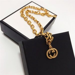 Retro Double G Necklace High Quality Pendants Female Temperament Female Small Exaggerated Bronze Necklace Fashion Jewelry Sets