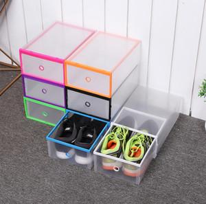 Boîte de rangement en plastique pour organisateur de chaussure Épaissie tiroir pour boîte à chaussures Boîtes de rangement pour chaussures Boîtier Transparent