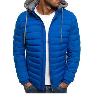 SHUJIN erkek Hafif Rüzgar Geçirmez Sıcak Packable Aşağı Ceket Kapüşonlu Ceket Nedensel Fermuar Parka Giyim Streetwear Erkekler Giyim