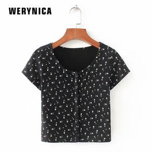 Werynica Camiseta básica para mujer Camiseta de manga corta para mujer Tops 2019 Primavera verano Camiseta Mujer Camiseta de algodón Nuevo Talla grande