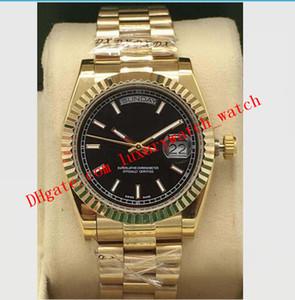 Versão mais recente 8 Estilo ouro amarelo 18K 118208 Índice 118238 Garantia Dial 36 milímetros relógios em aço Fluted Moda homens automática