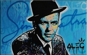 Alec Monopoly Ölgemälde auf Leinwand Graffiti Kunstdekor Frank Sinatra Wand-Deko Wohnkultur Handbemalte HD Bilder drucken 190918