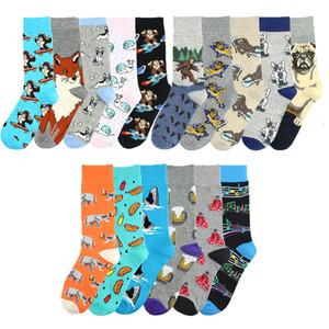 Мода Fun носки животное мужчины экипаж мультфильм животных собака / / красочные носки новизны подарок Sokken унисекс смешные люди