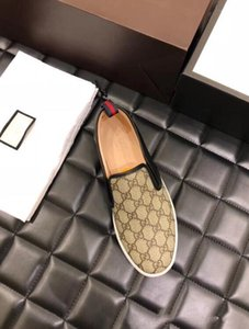 GUCCI Nuevo cuero de la capa impreso zapatos planos, zapatos ocasionales de los hombres, de gama alta hecha a mano de cuero impreso, zapatos de boda caminando moda hococal